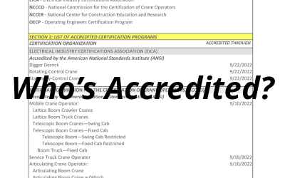 NCCCO Foundation Announces Accredited Certifier Directory